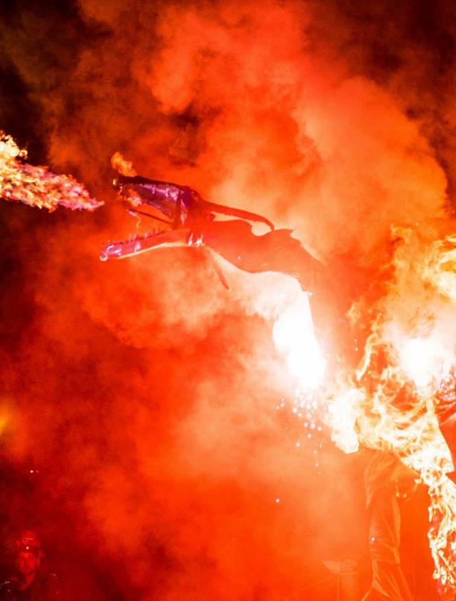 Fire Art - Dragon Puppet