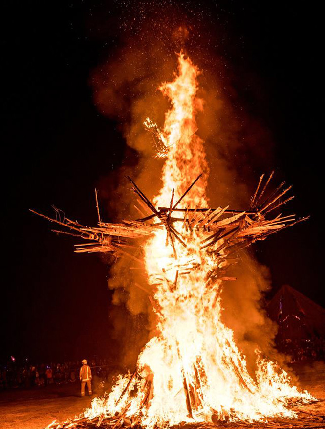 Fire Sculpure - Forest Rising