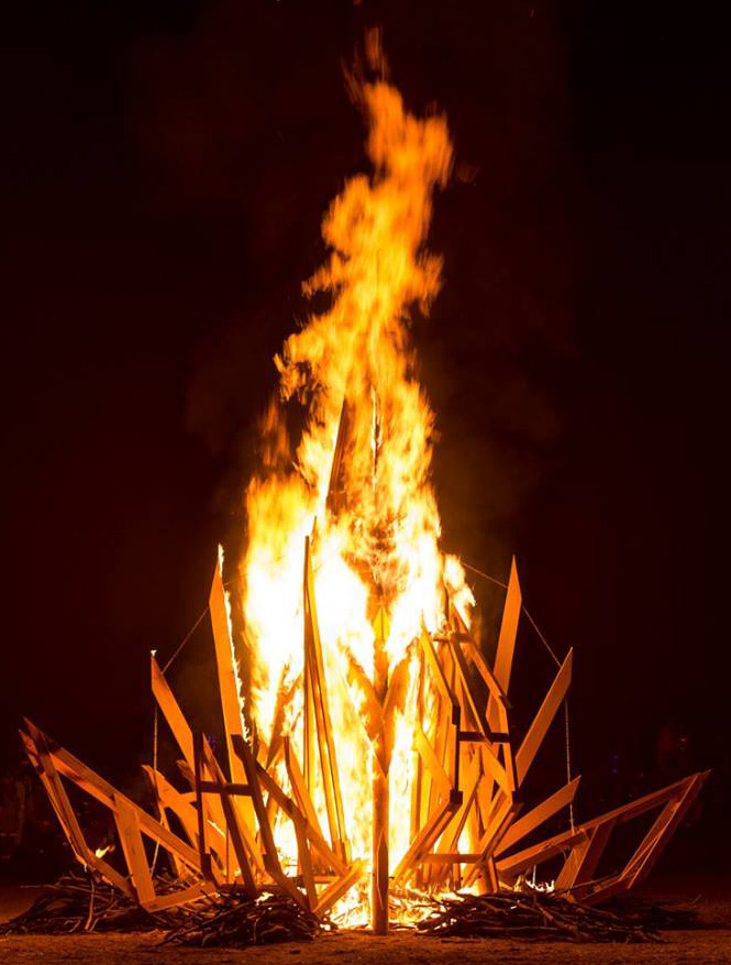 Fire Sculpture - Forest Rising